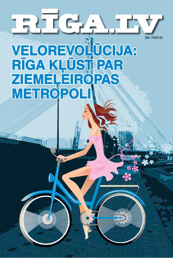 """Rīgas domes žurnāla """"RĪGA.LV"""" 2014. gada 7. numura vāks"""