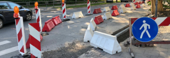 Gājēju drošība ceļu remontdarbos
