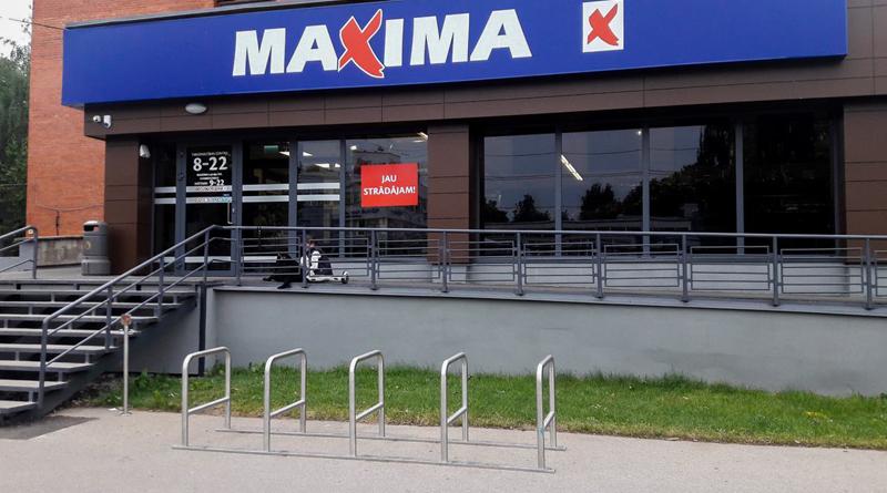 """""""Maxima"""" velonovietņu maiņa"""